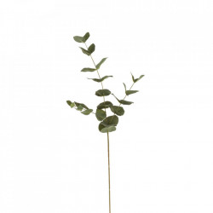 Planta artificiala verde din poliester si polietilena 60 cm Stick Eucalyptus Unimasa