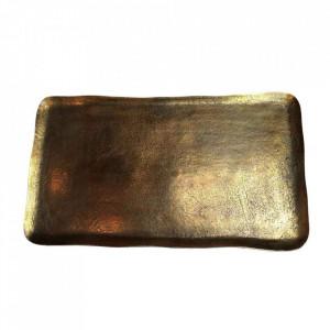 Platou decorativ auriu din aluminiu 34x60 cm Rectangle Pols Potten