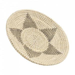 Platou decorativ maro din fibre 50 cm Aure Ixia