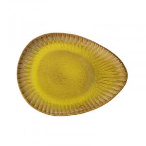 Platou galben din ceramica 25,5x34 cm Kamala Bloomingville