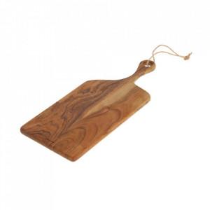 Platou maro din lemn de salcam 20x50 cm Salina Kave Home