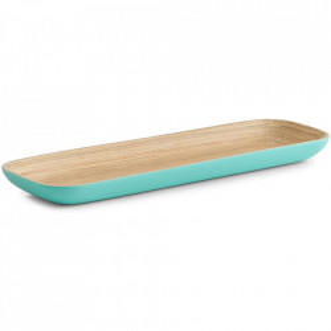 Platou servire albastru din lemn 12x35 cm Agua Zeller
