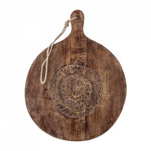 Platou servire maro din lemn de mango 39x49 cm Nature Bloomingville