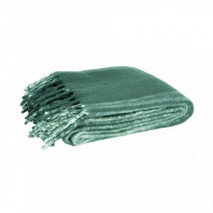 Pled verde din fibre acrilice 130x170 cm Ferre Ocean Woood