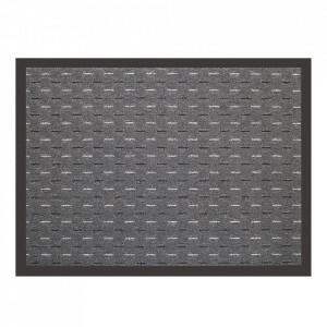 Pres dreptunghiular gri antracit din polipropilena pentru intrare 60x80 cm Linee Lako