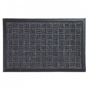 Pres dreptunghiular gri antracit din polipropilena pentru intrare 40x60 cm Country Lako