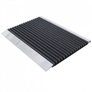 Pres dreptunghiular negru din poliamida pentru intrare 45x75 cm Bristol Lako