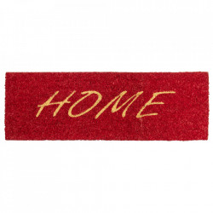 Pres dreptunghiular rosu din fibre de cocos pentru intrare 25x75 cm Home Lako