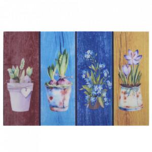 Pres multicolor dreptunghiular pentru intrare din polipropilena 45x70 cm Art The Home
