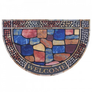 Pres multicolor oval pentru intrare din polipropilena 45x70 cm Ivas The Home
