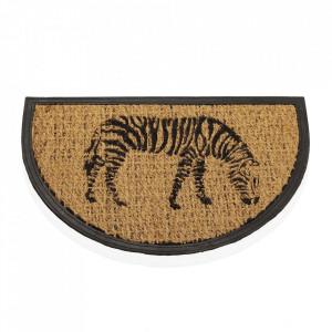 Pres pentru intrare maro/negru din fibre de cocos 40x60 cm Zebra Versa Home