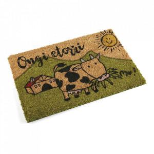Pres pentru intrare multicolor din fibre de cocos 40x60 cm Cow Versa Home