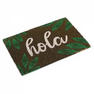 Pres pentru intrare verde din fibre de cocos 40x60 cm Hola Versa Home