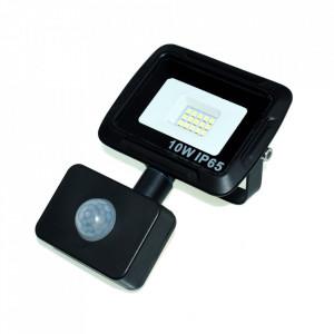 Proiector negru cu senzor din metal LED Lex S Milagro Lighting