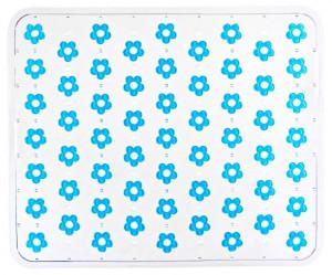 Protectie turcoaz/transparenta din plastic pentru chiuveta 26,5x32 cm Fleurelle Turquoise Wenko