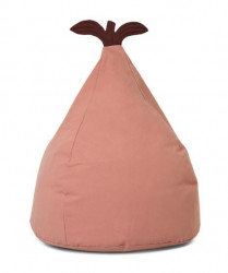 Puf oval roz din bumbac 35x55 cm Pear Dusty Rose Ferm Living