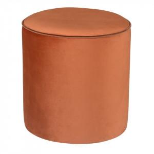 Puf portocaliu rotund din catifea 38 cm Klint Zago