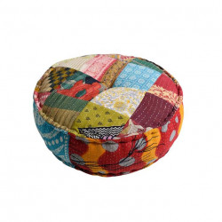 Puf rotund multicolor din bumbac 60 cm Inspire Giner y Colomer