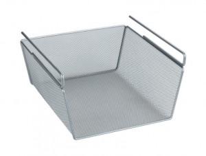 Raft argintiu din metal 15x28 cm Shelf Hanging Basket Wenko