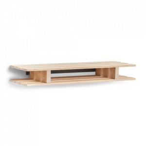 Raft maro din lemn 80 cm Palette Maxi Zeller