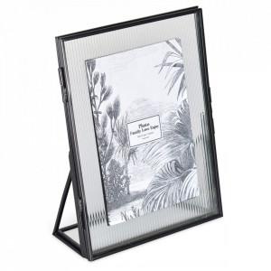 Rama foto neagra din metal si sticla 15x20 cm Suzzi Opjet Paris