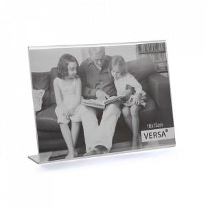 Rama foto transparenta din polipropilena 13x18 cm Nastia Versa Home