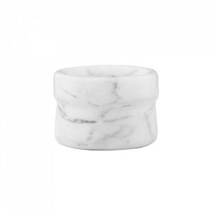 Recipient alb din marmura 4x6 cm Craft Normann Copenhagen