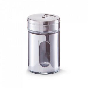 Recipient argintiu din sticla pentru condimente 80 ml Pulse Zeller