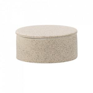 Recipient crem din ceramica cu capac 6,5x14 cm Sui Bloomingville