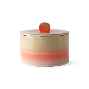 Recipient cu capac multicolor din ceramica 14x17 cm Venus HK Living