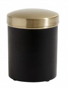 Recipient cu capac negru/maro alama din inox 8x11 cm Container Lid Nordal