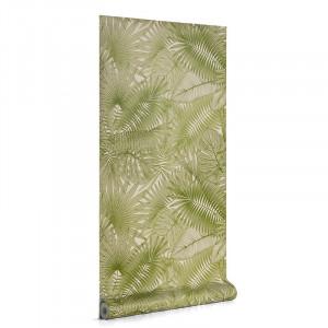 Rola tapet verde din hartie 53x1000 cm Tropic Kave Home