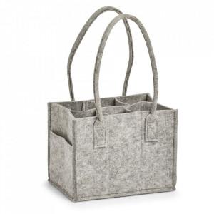 Sacosa gri din fetru pentru sticle Carry Bag Zeller