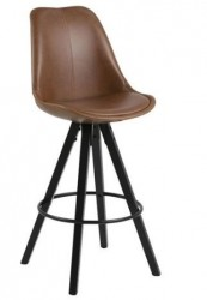 Scaun bar maro/negru din lemn si poliuretan Dima Actona Company
