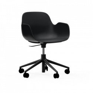 Scaun birou ajustabil rotativ negru din polipropilena Form 5W Lift Normann Copenhagen