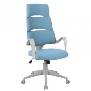 Scaun birou gri/albastru ajustabil din textil si metal Tika Signal Meble