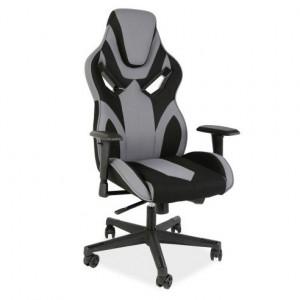 Scaun birou negru/gri ajustabil din textil Cobra II Grey Signal Meble