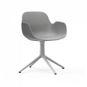 Scaun birou rotativ gri/alb din polipropilena Form 4L Normann Copenhagen
