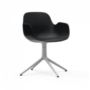 Scaun birou rotativ negru/alb din polipropilena Form 4L Normann Copenhagen
