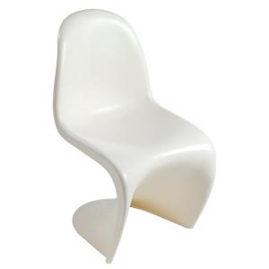 Scaun dining alb din plastic ABS Curve Santiago Pons