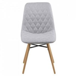 Scaun dining gri deschis/maro din textil si lemn Lif Actona Company