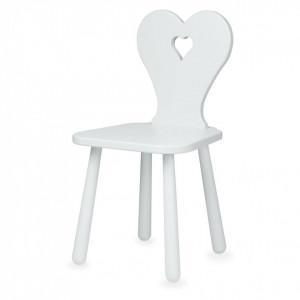 Scaun gri din MDF si lemn pentru copii Heart Classic Grey Cam Cam