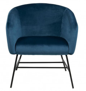 Scaun lounge albastru/negru din poliester si metal Ramsey Navy Blue Actona Company