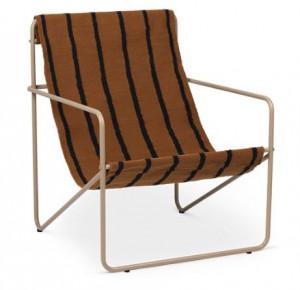 Scaun lounge din metal si textil Desert Cashmere Stripe Ferm Living