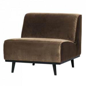 Scaun lounge grej/negru din catifea si lemn Statement Be Pure Home
