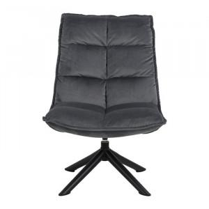 Scaun lounge gri inchis/negru din textil si metal Storm Actona Company