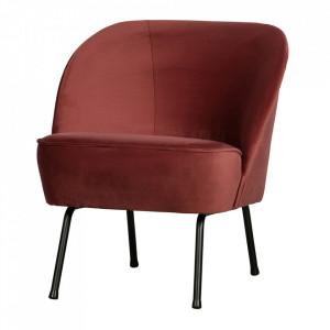 Scaun lounge maro castana din catifea si otel Vogue Be Pure Home