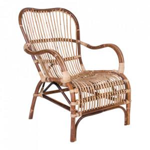 Scaun lounge maro din ratan Celta House Nordic