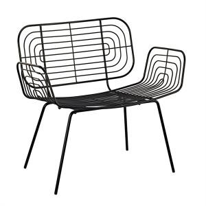Scaun lounge negru din metal Boston Pols Potten