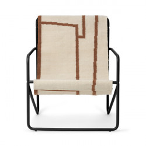 Scaun lounge pentru copii multicolor din textil si metal Desert Shape Ferm Living
